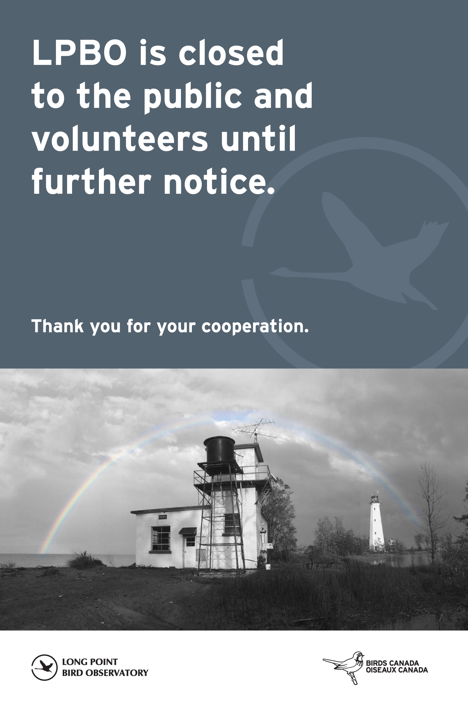 Long Point Bird Observatory is closed to the public until further notice.